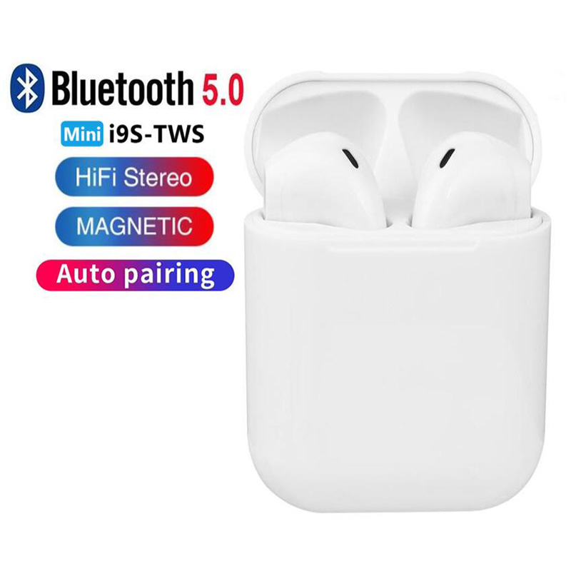 <font><b>i9s</b></font> TWS Wireless Headphones Stereo Earbuds <font><b>5.0</b></font> <font><b>Bluetooth</b></font> Headset <font><b>Earphones</b></font> For Iphone, Android Smart Phone With charge Case image