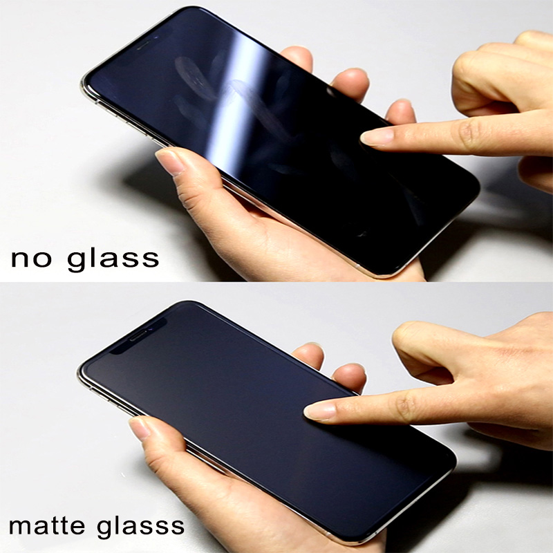 Frosted Matte Screen Protector Tempered Glass For iPhone 7 8 Plus X XS MAX 4