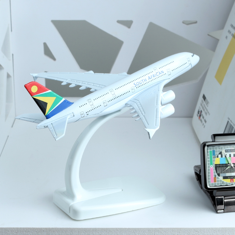 <font><b>Airbus</b></font> <font><b>A380</b></font> South African Airways 16cm alloy aircraft <font><b>model</b></font> aviation Africa Airplane <font><b>Model</b></font> Aircraft Airplane <font><b>Model</b></font> Stand Crafts image