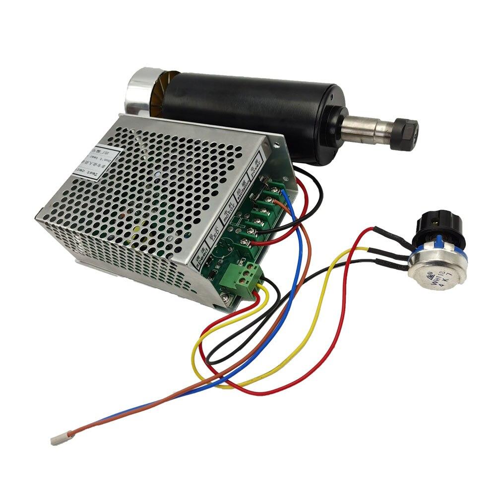 Machifit ER11 патрон CNC 500W мотор шпинделя с 52 мм зажимами и регулятором скорости электропитания