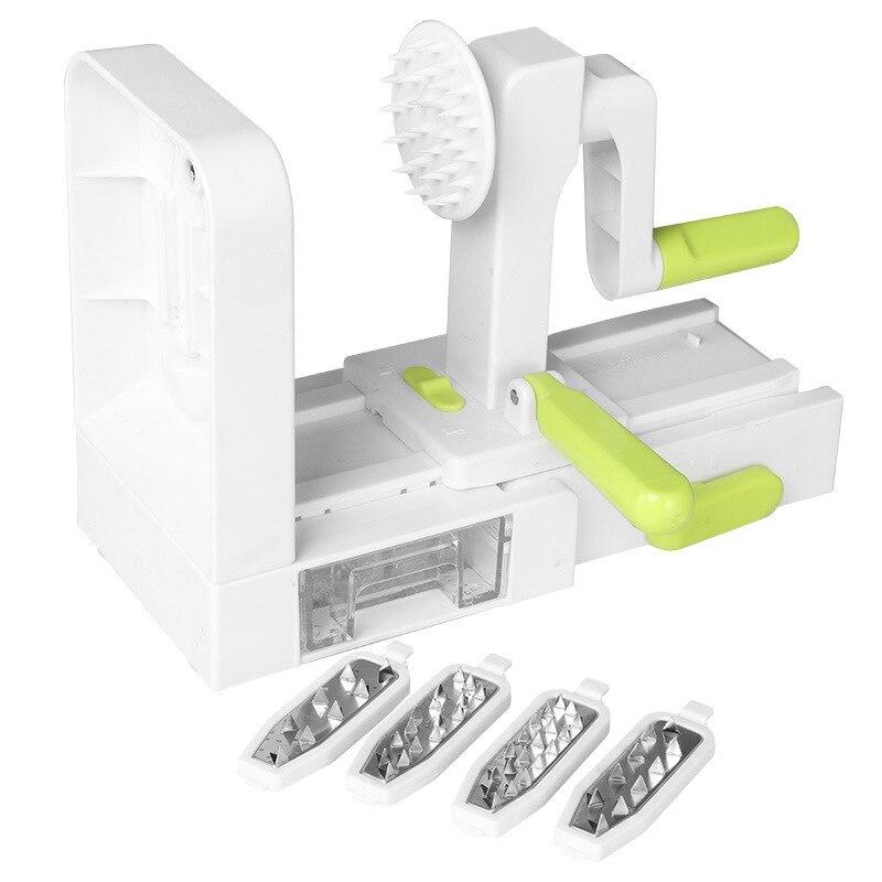 Promotion! 4 Blade Vegetable Spiralizer Folding Veggie Pasta & Spaghetti Potato Vegetable Spiral Cutter Zucchini Slicer|Kitchen Knives| |  - title=