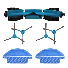 Replacement Accessories Roller Brush Side Brush Mop Robot Sweeper Accessories Replacement for Conga 3090 Vacuum Cleaner