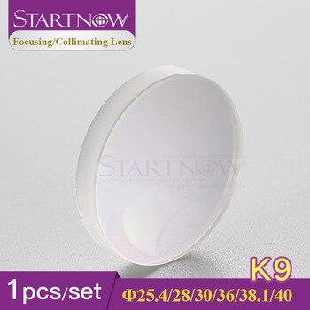Startnow 1 pieza vidrio K9 lente de colimador de enfoque láser de fibra 25,4 D28 30 36mm F200 convexo cóncavo 1064nm para piezas de equipos de soldadura