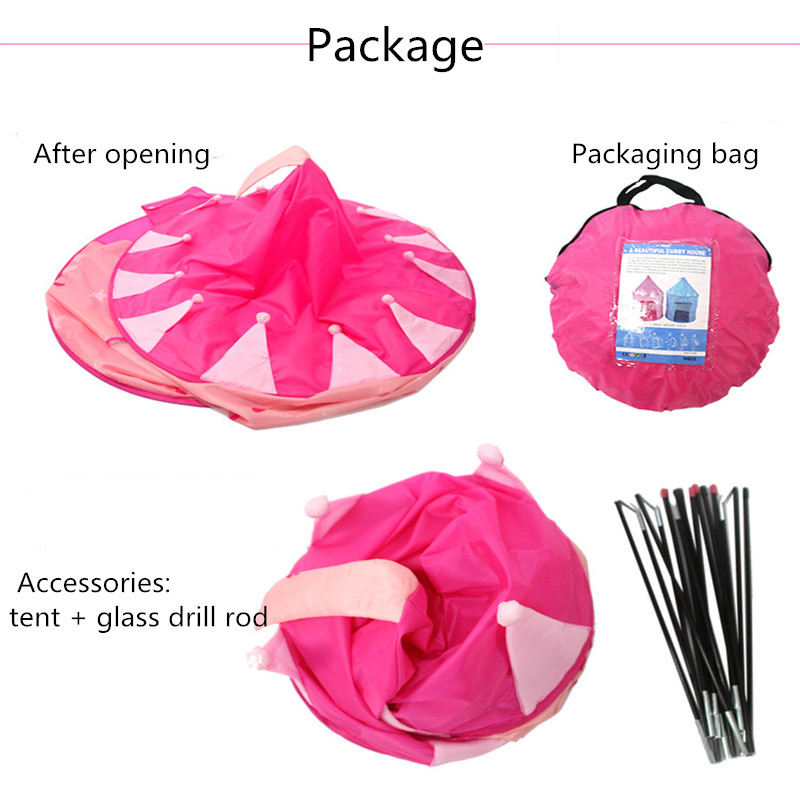 Купить с кэшбэком 7 Styles Princess Prince Play Tent Portable Foldable Tent Children Boy Castle Play House Kids Outdoor Toy Tent Play Tent Gift