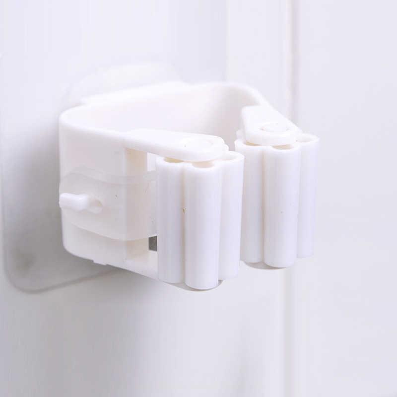 Darmowym przepychaczem silne nośne Mop klip narzędzie kuchenne Mop miotła regał magazynowy bez szwu łazienka domu uchwyt kuchenny do przechowywania TSLM1