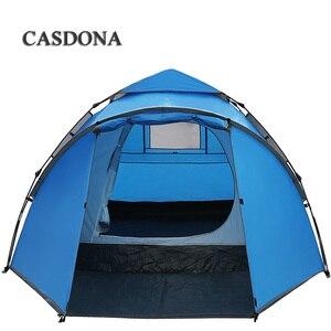 Image 4 - CASDONA תיירות אוהל גדול חלל כפול 3 4 אנשים עשר הידראולי אוטומטי עמיד למים 4 עונה חיצוני חוף פנאי אוהל