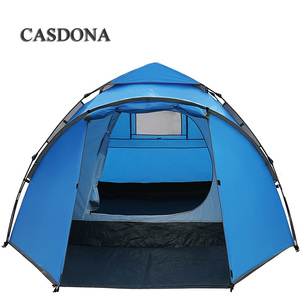 Image 4 - CASDONA Tourist tent large space double 3 4 people ten hydraulic automatic waterproof 4 season outdoor family beach leisure tent