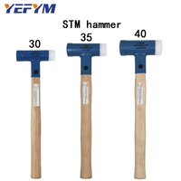 30mm 40mm Face Tap Nylon/Steel Hammer For Multifunctional hand tool hard plastic and Walnut wood handle diameter tools