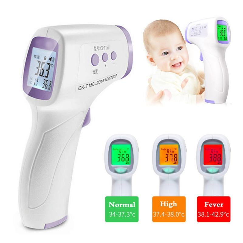 Baby Adult Smart Thermometer Non-Contact IR Infrared Thermometer Laser LCD Digital C/F Pyrometer Forhead Body Temperatures Meter