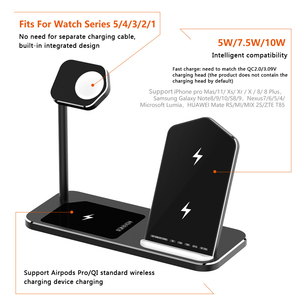 Image 2 - Iphone ワイヤレス充電器 3 1 でアルミ合金アップル時計 iwatch 1 2 3 4 5 airpods プロワイヤレス充電ドック