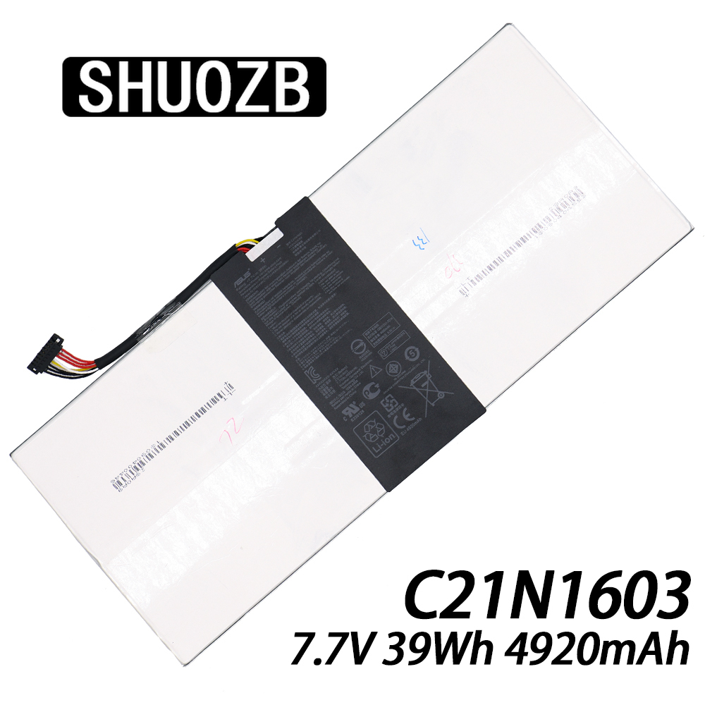 New C21N1603 Laptop Battery For Asus Transformer 3 Pro T303UA T303UA-0053G6200U T303UA-GN050T 7.7V 5000mAh SHUOZB image