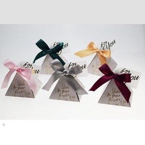 Image 5 - משולש פירמידת סוכריות תיבת חתונה טובה ומתנות קופסות ממתקי שקיות חתונה אורחים קישוט תינוק מקלחת ספקי צד