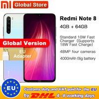 """Globalna wersja Xiaomi Redmi Note 8 64GB 4GB Snapdragon 665 Octa Core Smartphone 6.3 """"48MP Quad tylna kamera telefon komórkowy w Telefony Komórkowe od Telefony komórkowe i telekomunikacja na"""