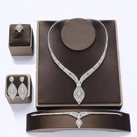 Jewelry Set HADIYANA Wedding Gift Earrings Necklace Bracelet Ring Sets Luxury Elegant Womens Jewellery CN1108 Accesorios Mujer