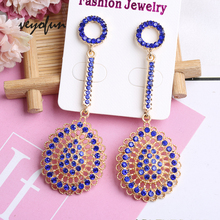 цена на Veyofun ZA Hollow out Rhinestone Vintage Drop Earrings Long Dangle Earrings for Women Fashion Jewelry