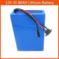 500W 고용량 12V 80AH 리튬 배터리 팩 3S 12V 80000MAH 26650 배터리 12.6V 5A 충전기 50A BMS 무료 배송