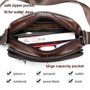 Image 4 - ชายWESTALกระเป๋าหนังแท้กระเป๋าสะพายชายสำหรับชายFlapซิปผู้ชายCrossbodyกระเป๋าหนังmessengerกระเป๋าถือ