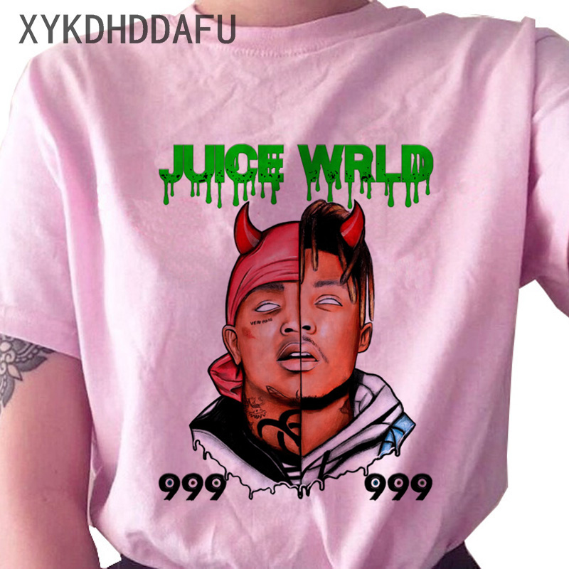 He58e98f336554490b0bb904e23b1e770R - Juice Wrld T Shirt Women R.I.P Hip Hop Rapper Streetwear Tshirt Print Clothing Female Casual Ulzzang Graphic T-shirt Top Tees
