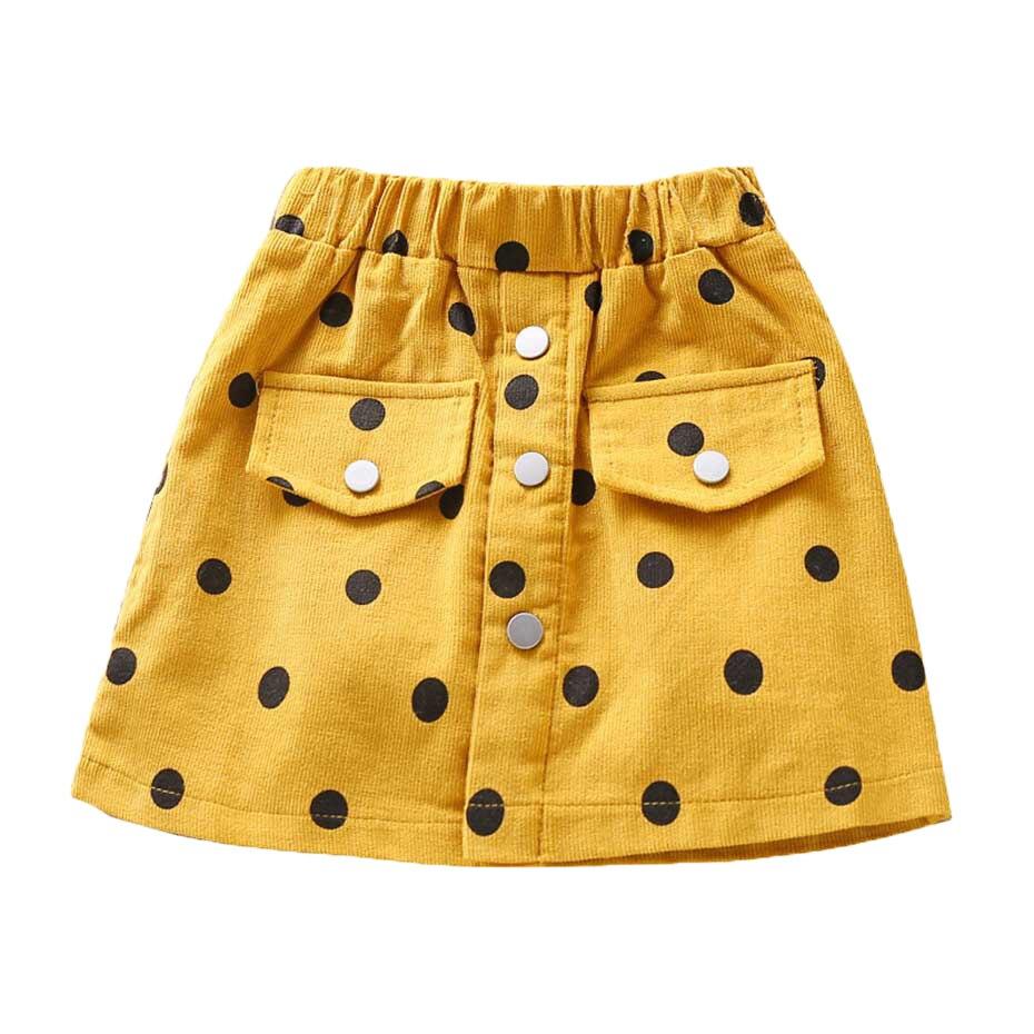 2020 летняя детская юбка в горошек для маленьких девочек однобортная юбка трапециевидной формы для девочек, новая весенняя одежда для маленьких девочек|Юбки|   | АлиЭкспресс