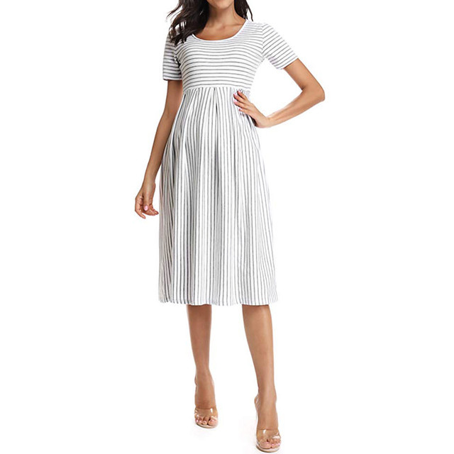 LONSANT Simple Maternity Dresses 3