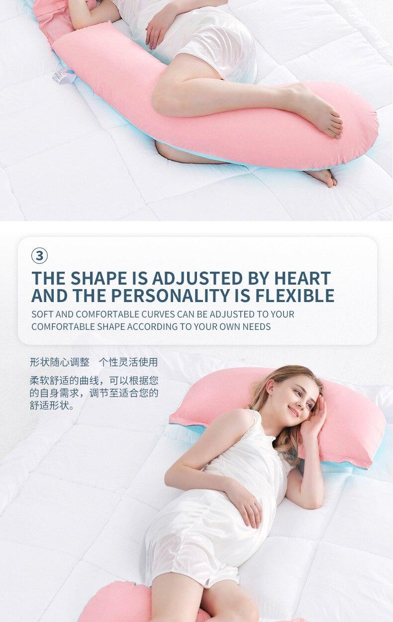 Gravidez travesseiro g em forma de corpo