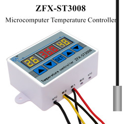 ZFX-ST3008 Microcomputer Temperature Controller Thermostat Intelligent Time Controller Adjustable NTC10K Measurement input40%off