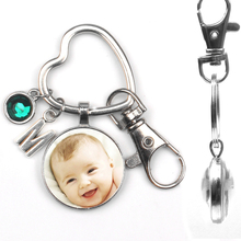 Keychain Sister Gift Photo Portrait Double-Sided Personalizeds Family Love Dad Square