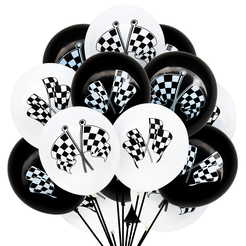 10pcs-10inch-Racing-Flags-Latex-Balloon-Checkered-Balloons-Car-Race-Line-Toys-For-Kids-Party-Balloon