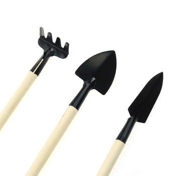 3pc gardening tools bonsai Mini garden for tools Small shovel hoe hoe Plant potted flowers tool seedling planting 4