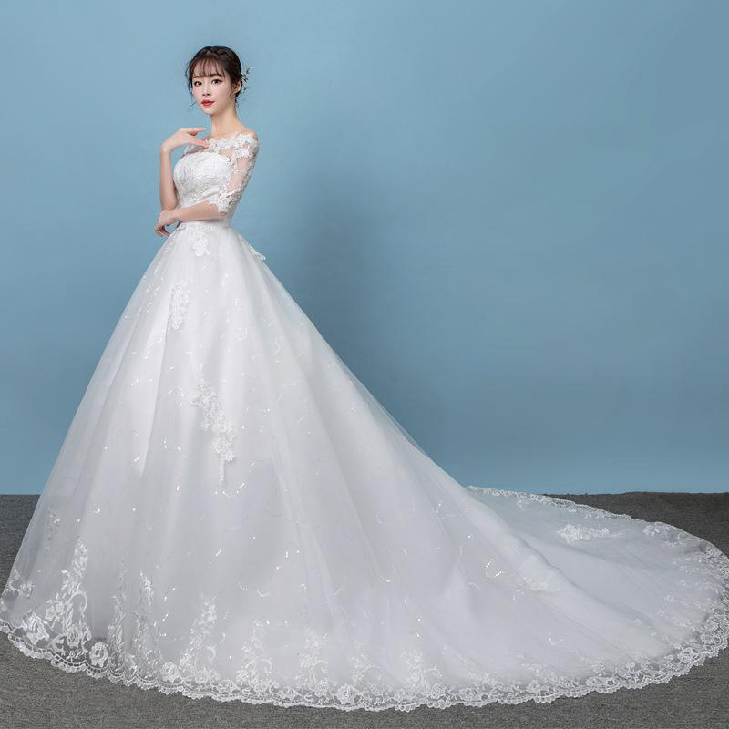 Robe De Mariee 2019 Half Sleeve Wedding Dress New Off The Shoulder Princess Wedding Gowns Vestido De Novias