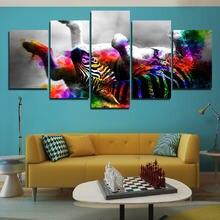 Красочная Зебра четырехногая подвернутая декорация плакат домашнее
