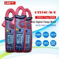 UNI-T Mini Digital Clamp Meters UT210A UT210B UT210C UT210D UT210E True RMS Auto Range VFC Capacitance Non Contact Multimeter