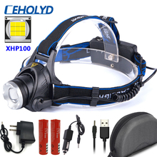XHP100 Super Bright Led Headlamp Zoomable Sensor Switch Head Flashlight Lamp Torch Headlights Usb Rechargeable for Camping