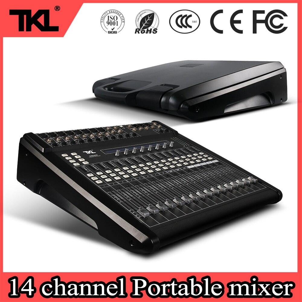 TKL DM1405 profesjonalne 14 kanał mechaniczne popychacz konsoleta DJ scenicznego konsoli dźwięk cyfrowy mikser
