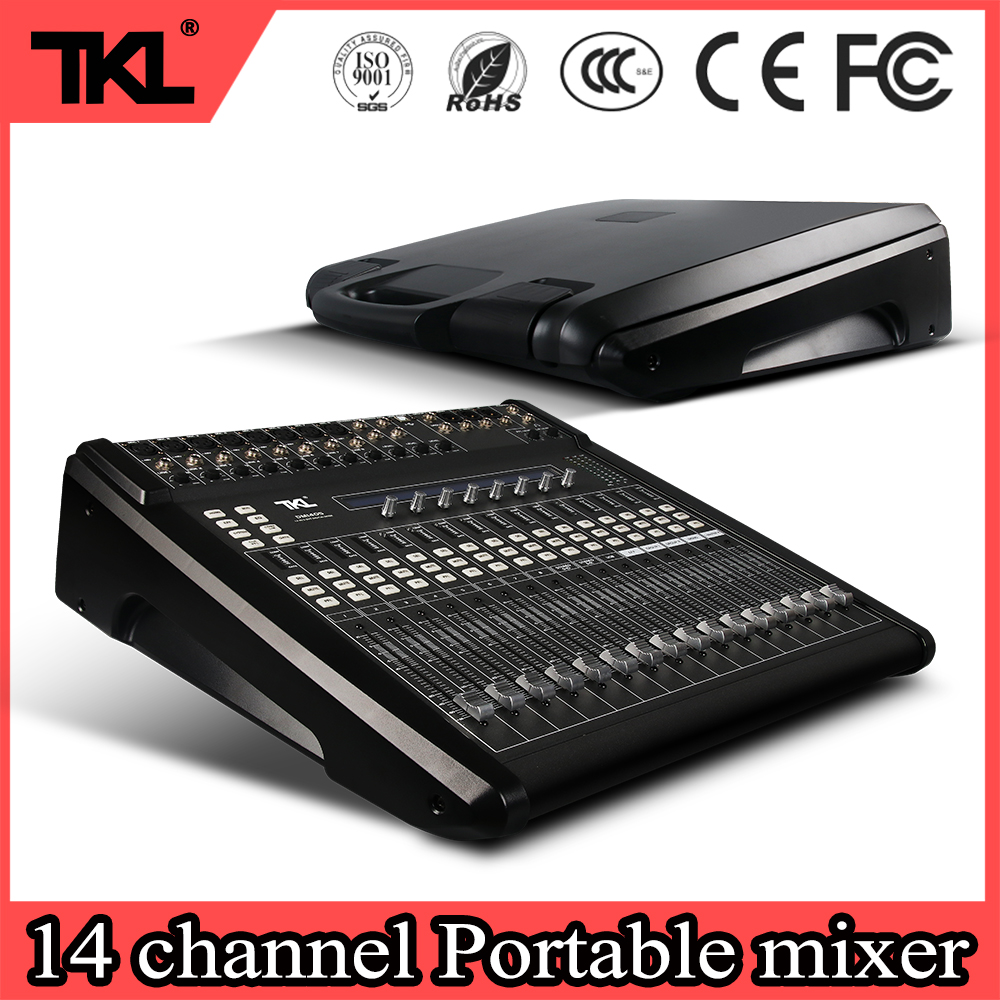 TKL DM1405 professionelle 14 Kanal Mechanische Drücker DJ mixer Konsole bühne Digitale Audio Mixer