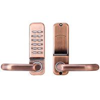 Home Office Smart Türschloss Mechanische Passwort Sperren Digitale Sicherheit Mechanische Taste Passwort Sicherheit System Red Bronze-in Türschlösser aus Heimwerkerbedarf bei
