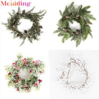 Guirnalda de navidad de vid Artificial, guirnalda de follaje Floral colgante, decoraciones...