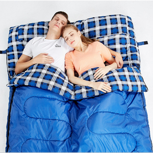 Image 4 - Hewolf Outdoor Double Sleeping Bag Splicable Envelope Spring and Autumn Camping Hiking Portable cotton Sleeping Bags 2.2m*1.45m