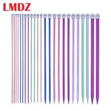 LMDZ 2 sztuk/zestaw 35cm szpiczaste z jednej strony druty do robienia na drutach prosto aluminium DIY narzędzie tkackie długi sweter szalik igły 2.0 12mm