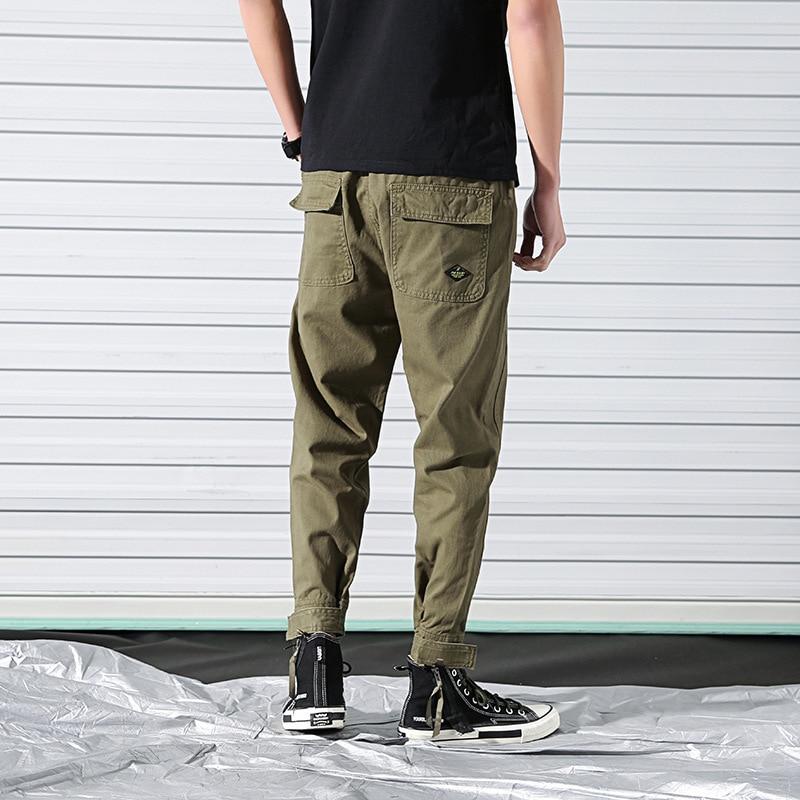 Spring New Style Bib Overall MEN'S Trousers Korean-style Popular Brand Men Capri Casual Pants Loose Straight Beam Leg Harem Pant