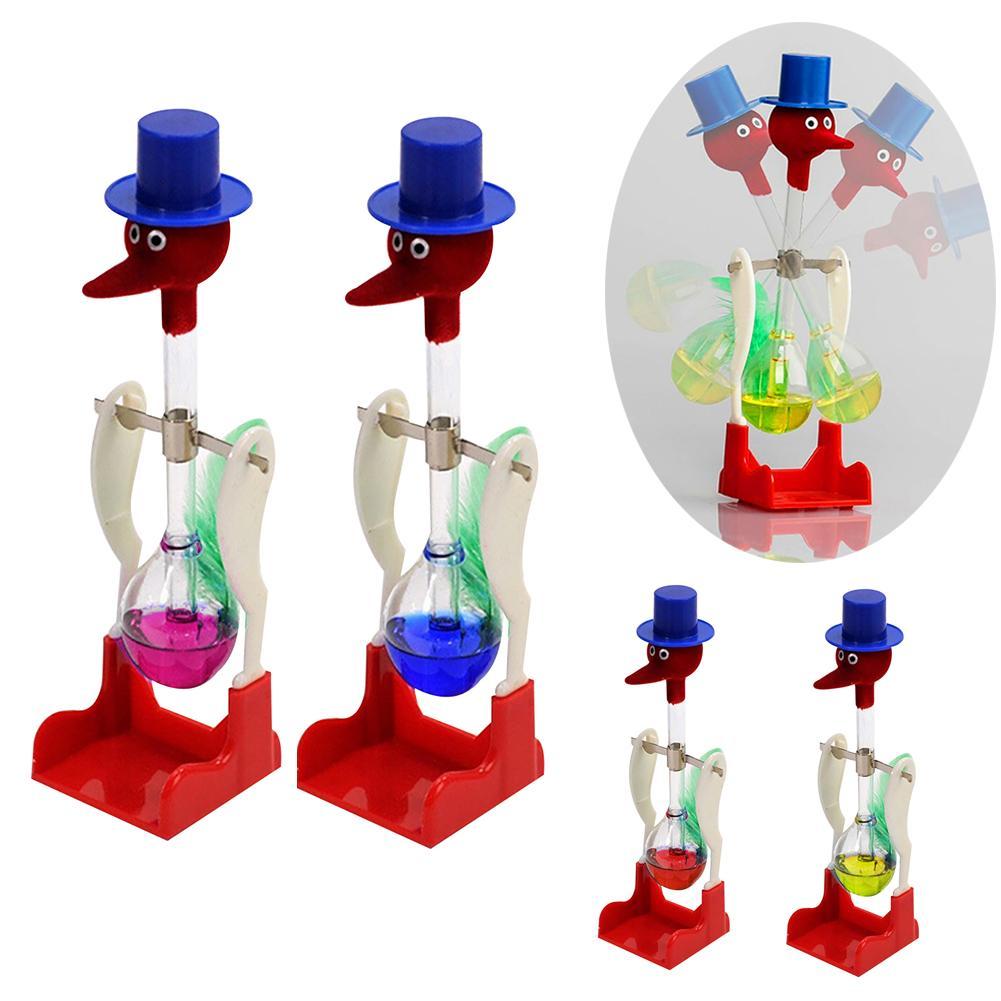 Creative Non-Stop Liquid Drinking Glass Lucky Bird Duck Bobbing Magic Prank Toy Teach Them Physics Eco-friendly And Safe
