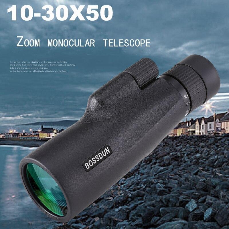 10-30×50 Powerful Monocular Long Range Zoom Pocket Spotting Telescope Eyeglass For Hunting Camping Tourism Children Telescope