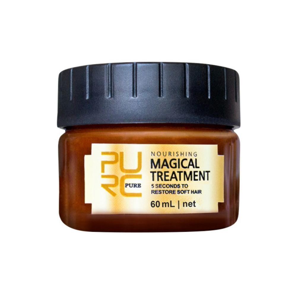60ml Purc Magical Treatment Mask Hair Types Keratin Hair Scalp Treatment 5 Seconds Repair Damage Restore Soft Hair Dropshipping