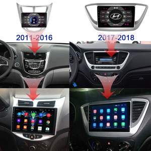 Image 3 - For Solaris 1 2 Hyundai Accent Verna 2G + 32G Car Radio 2 din android 8.1 Video multimedia Player Navigation GPS WiFi 2011 2018