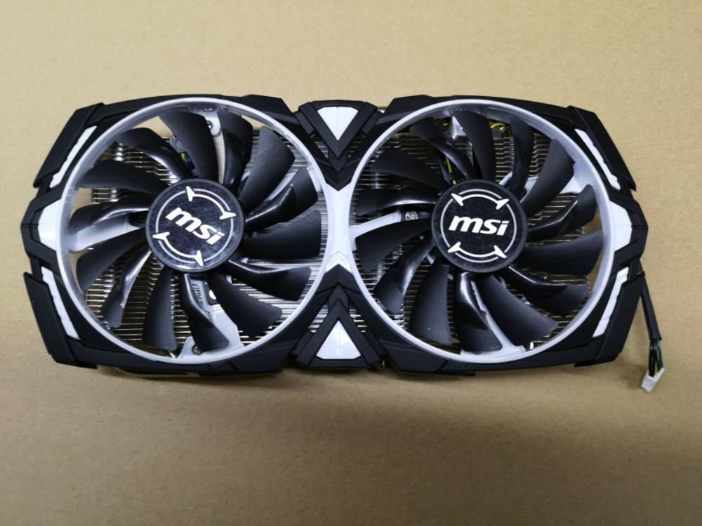 Original For MSI RX580 RX570 ARMOR Graphics Card Cooler Pitch 53X53MM FONSONING