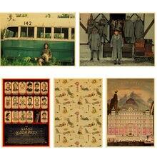 Clássico filme wes anderson filme o grand budapest hotel retro poster decoração da parede do vintage para casa bar café quarto miúdo
