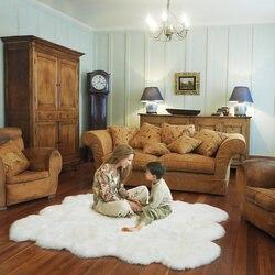 Tapis en laine épais pour décor de maison | Tapis Shaggy de salon et chambre à coucher, tapis pelucheux de canapé, coussin de Table basse, tapis de chambre d'enfants