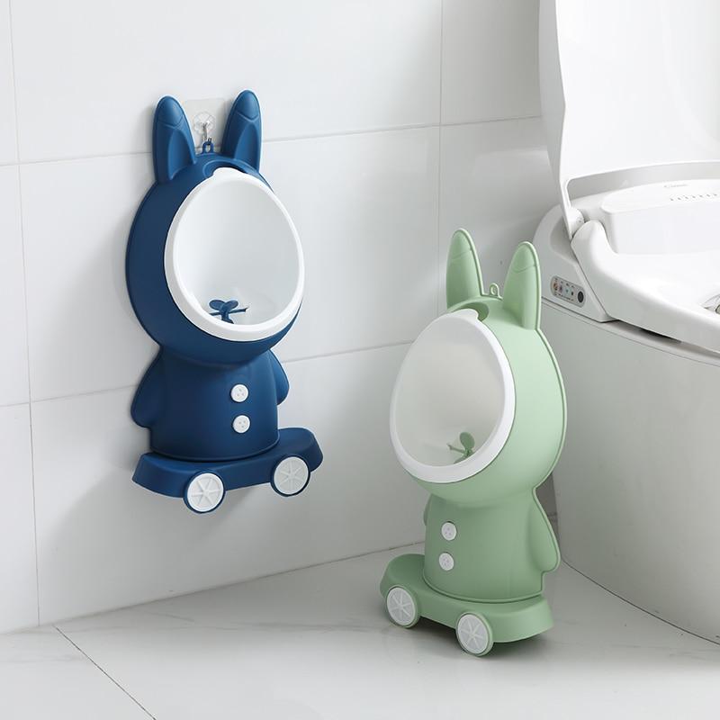 Rabbit Shape Children's Toilet Urinal Wall-mounted Urinal For Boys Standing Urinal For Boys And Babies For Free Potty Brush