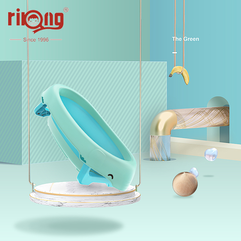 Rikang Folding Baby Tubs Bathtub Portable Silicone Bath Tubs Accessories Collapsible Laundry Storage Basket Safety Security