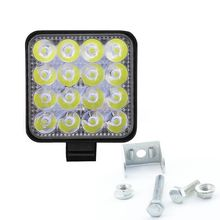 цена на ONEWELL Square 48W LED Work Light 12V 24V Off Road Flood Spot Lamp For Car Truck off-road work light  SUV